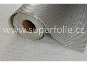Stříbrná karbonová tkanina, samolepící