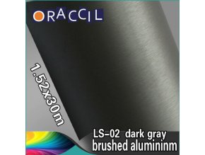 Broušený hliník tmavý, kanálky
