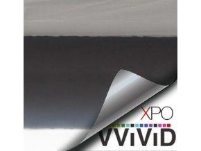 Černá lesklá chromová VViViD vinyl, kanálky