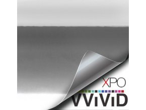 Stříbrná lesklá chromová VViViD vinyl, kanálky