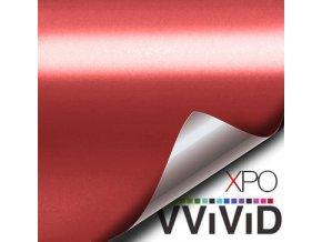Červená matná chromová VViViD vinyl, kanálky