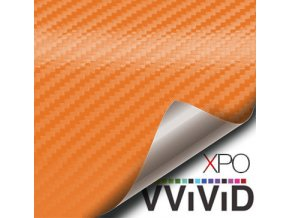 Oranžová karbonová fólie VViViD vinyl