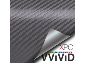 Šedá karbonová fólie VViViD vinyl, kanálky