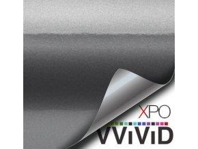 Tmavě šedá lesklá VViViD vinyl, kanálky