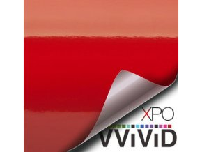 Červená lesklá VViViD vinyl, kanálky