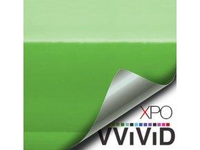 Limetkově zelená lesklá VViViD vinyl, kanálky