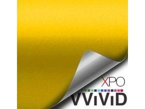 Hořčičně žlutá matná VViViD vinyl, kanálky
