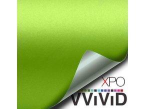 Limetkově zelená matná VViViD vinyl, kanálky