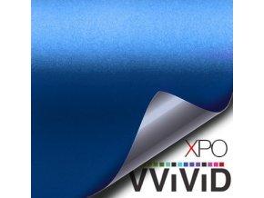 Tmavě modrá matná VViViD vinyl, kanálky