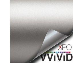 Stříbrná matná VViViD vinyl, kanálky