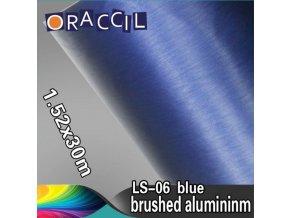 Broušený hliník modrý, kanálky