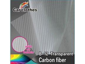 Transparentní karbonová fólie, kanálky