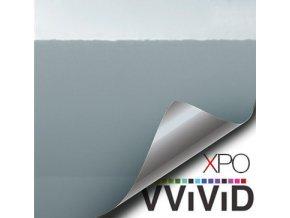 Světle šedá lesklá VViViD vinyl, kanálky