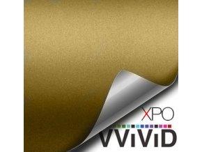 Pouštní zlatá matná VViViD vinyl, kanálky