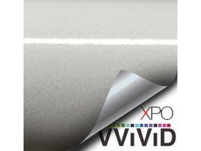 Bílá perleť VViViD vinyl, kanálky