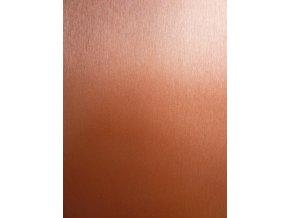 Bronzový broušený hliník Grafiwrap, kanálky