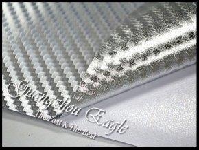 Stříbrná chromová karbonová fólie, kanálky