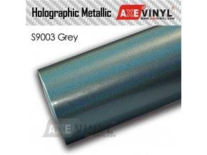 S9003 Grey Gloss Flip Psychedelic HOLOGRAPHIC METALLIC FILM