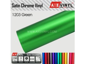 1203 AXEVINYL Green Matte Chrome Wrap Vinyl Satin Chrome Wrap Vinyl