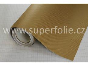 Zlatá karbonová fólie, kanálky