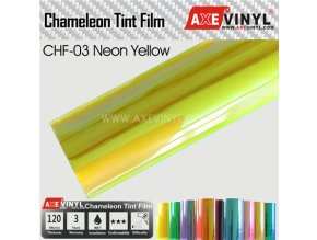 CHF 03 AXEVINYL Neon Yellow Chameleon Headlight Tint Film