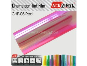 CHF 05 AXEVINYL Red Chameleon Headlight Tint Film