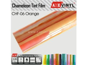 CHF 06 Orange AXEVINYL Transparent Chameleon Headlight Tint Film
