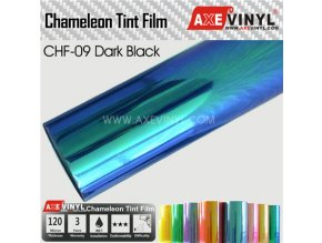 CHF 09 Dark Black AXEVINYL Transparent Chameleon Headlight Tint Film