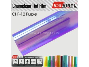 CHF 12 Purple AXEVINYL Transparent Chameleon Headlight Tint Film