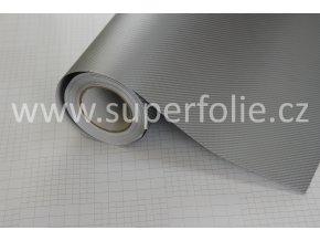Stříbrná karbonová fólie, kanálky