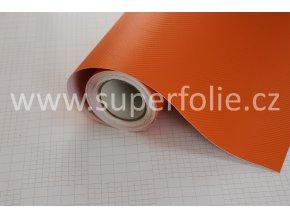 Oranžová karbonová fólie, kanálky