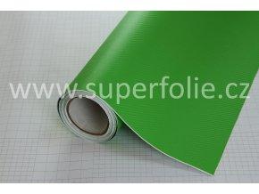 Zelená karbonová fólie, kanálky