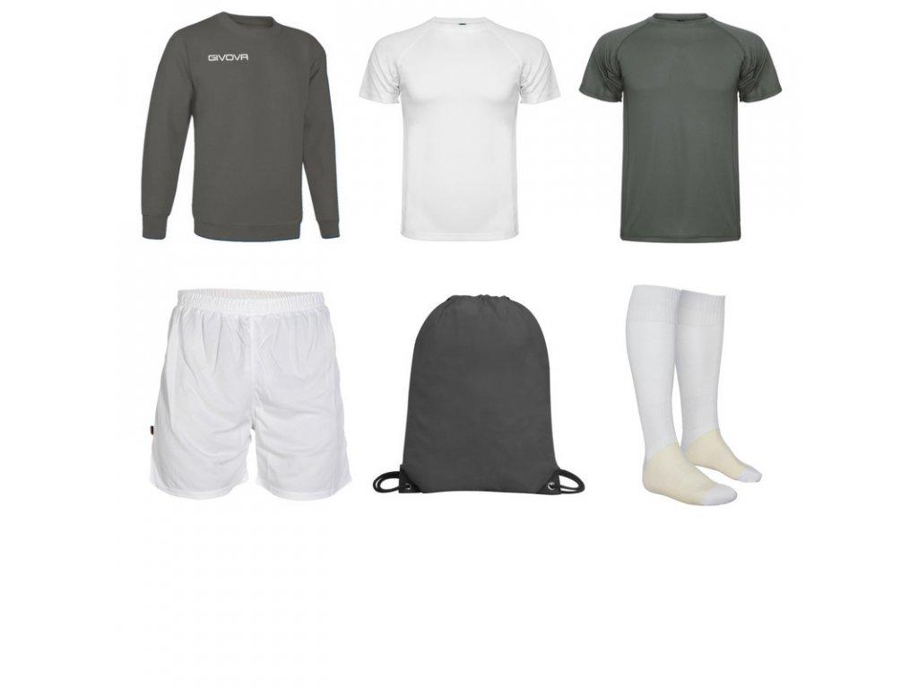 Tréningový box superfutbal spring, 6 kusový, tmavo sivá biela farba