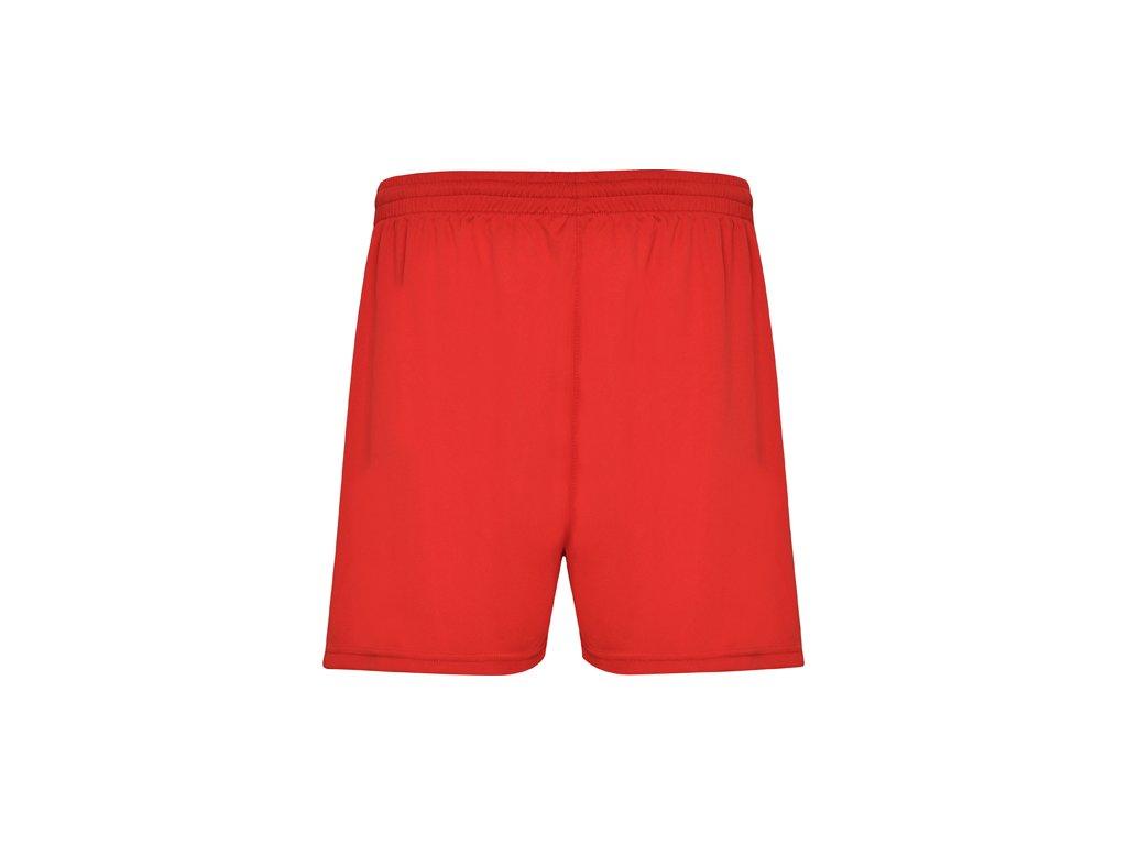 Kvalitné šortky calcio, červené