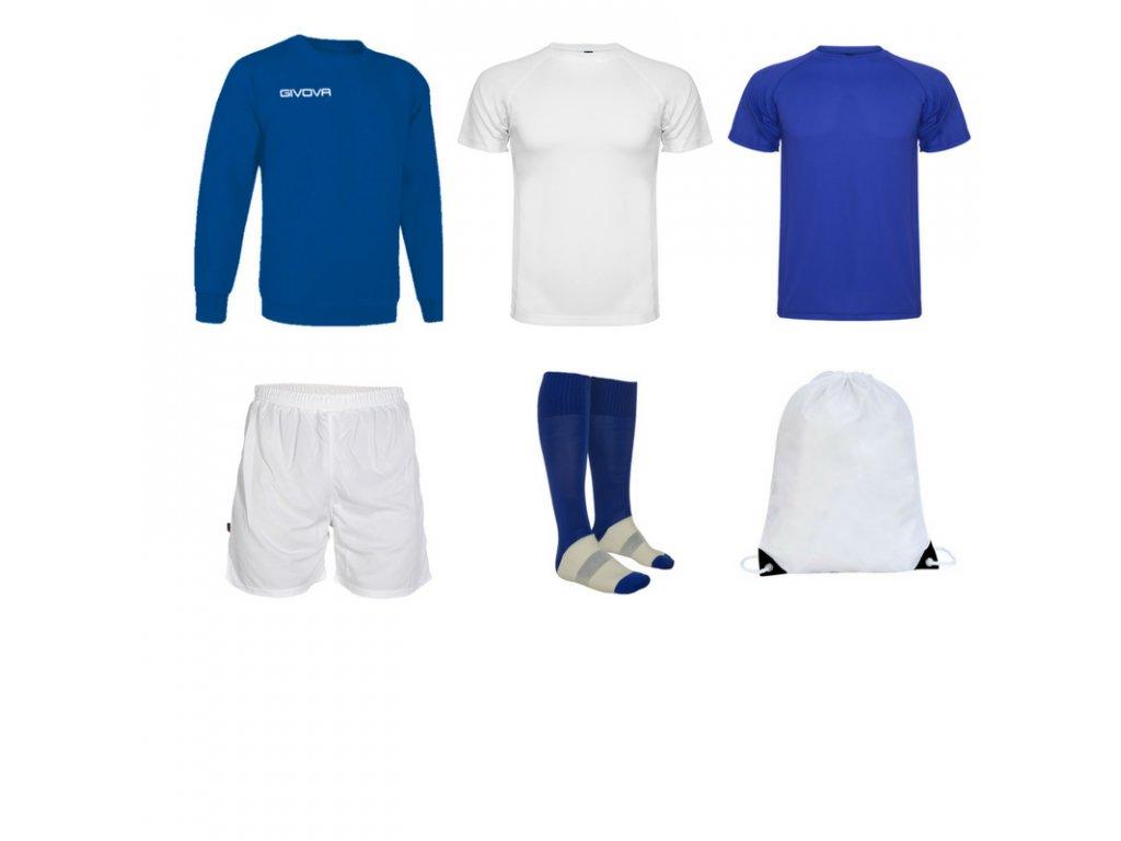 Tréningový box superfutbal spring, 6 kusový, kráľovsky modrá biela farba