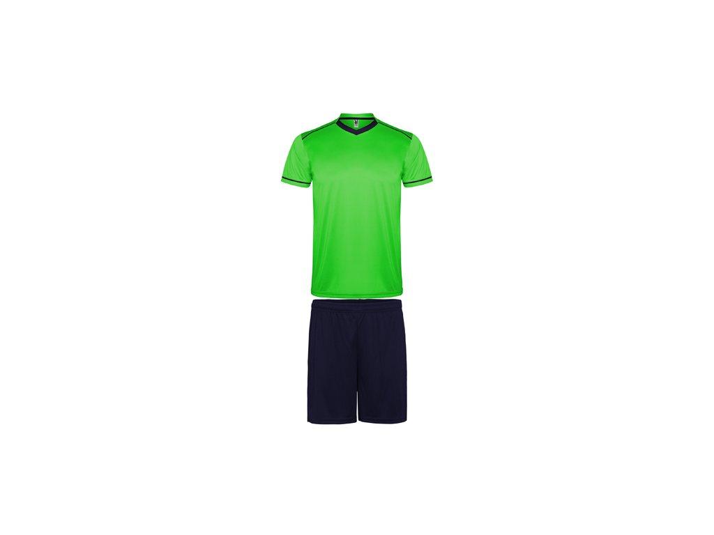 Futbalový set dres + šortky United, zelená / tmavo modrá