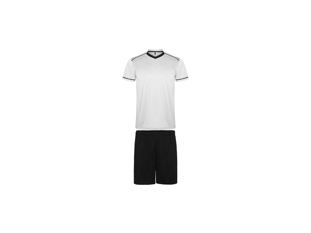 Futbalový set dres + šortky United, biela /  čierna