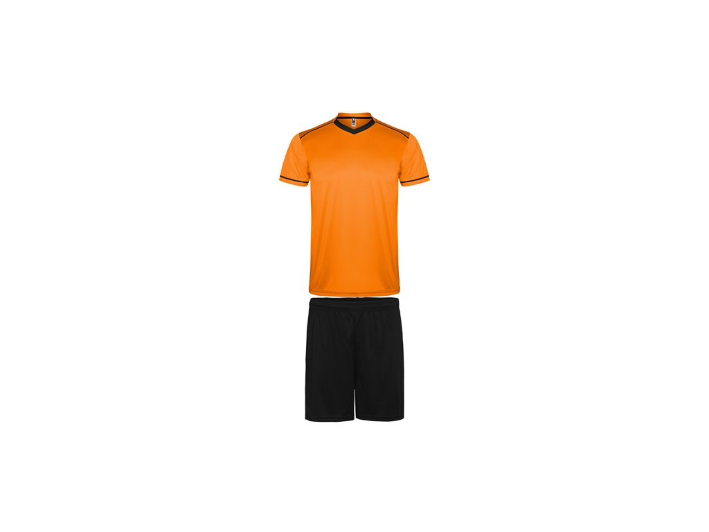 Futbalový set dres + šortky United, oranžová / čierna