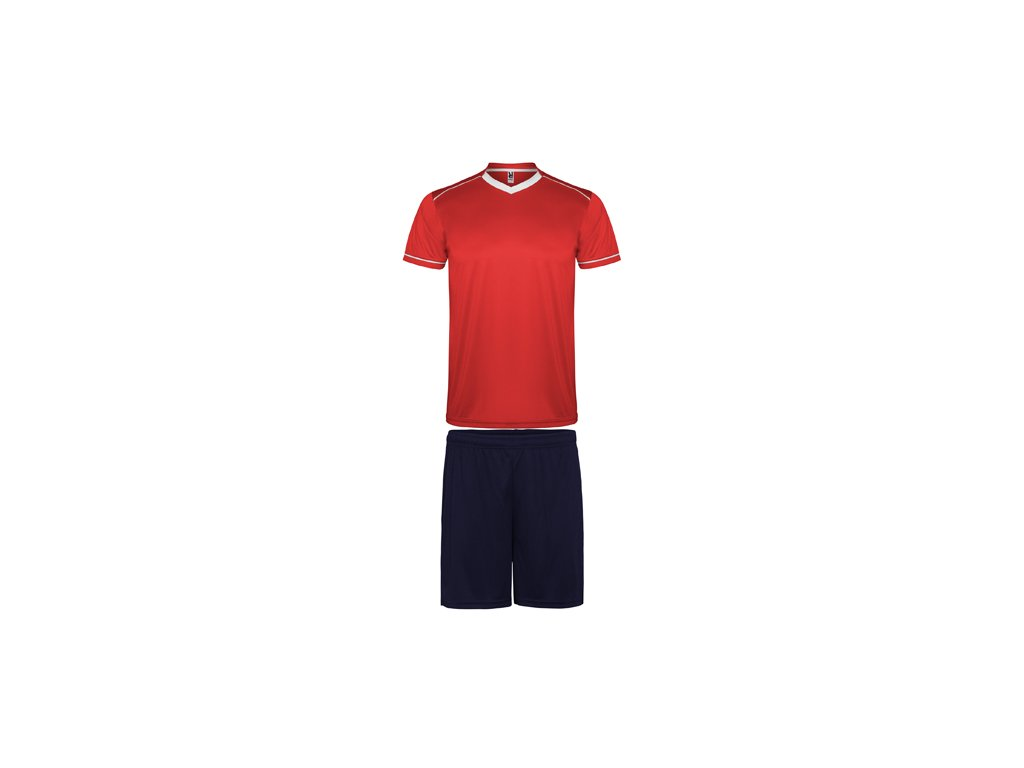 Futbalový set dres + šortky United, červená / tmavo modrá