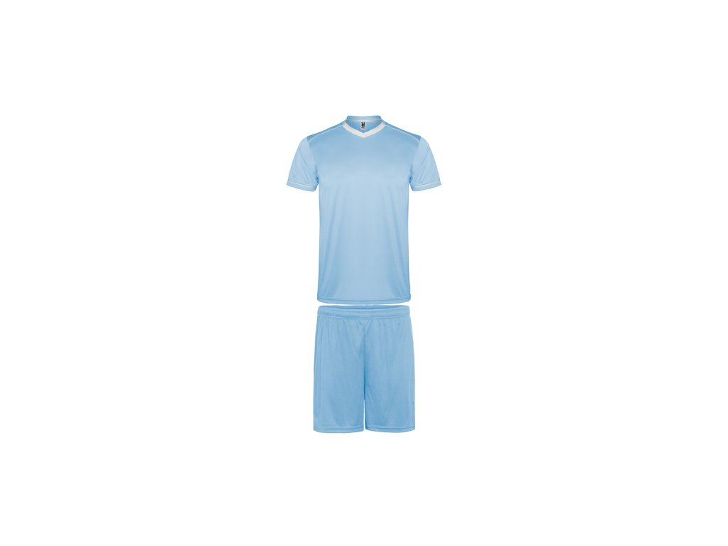 Futbalový set dres + šortky United, svetlo modrá / biela