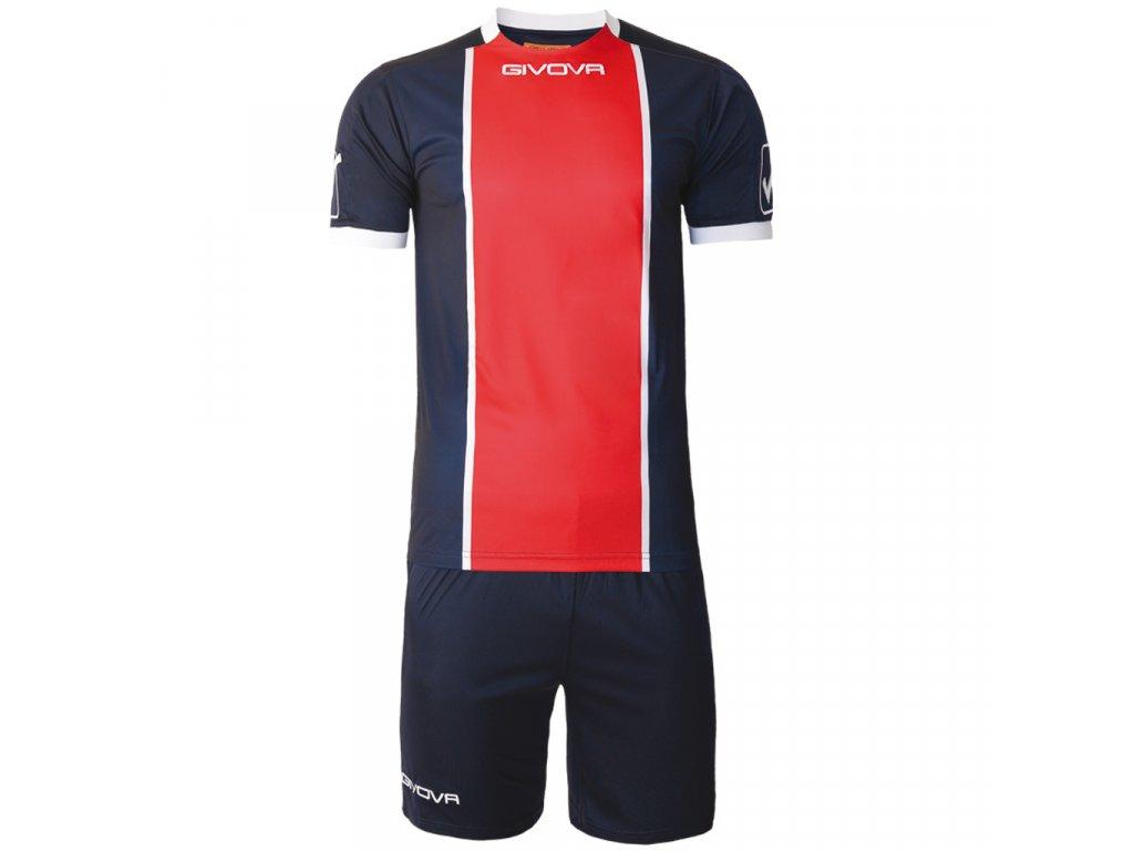 07c0d8fcd7bc0 Futbalový set dres + šortky Givova Kit Paris, tmavo modrá / červená ...