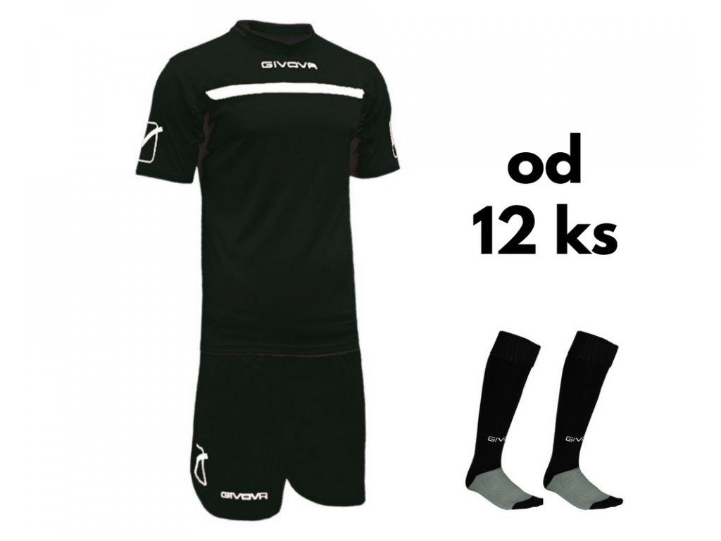 525c691bcc1e8 Futbalová sada Givova One pre celé mužstvo, od 12 ks, čierna / biela ...