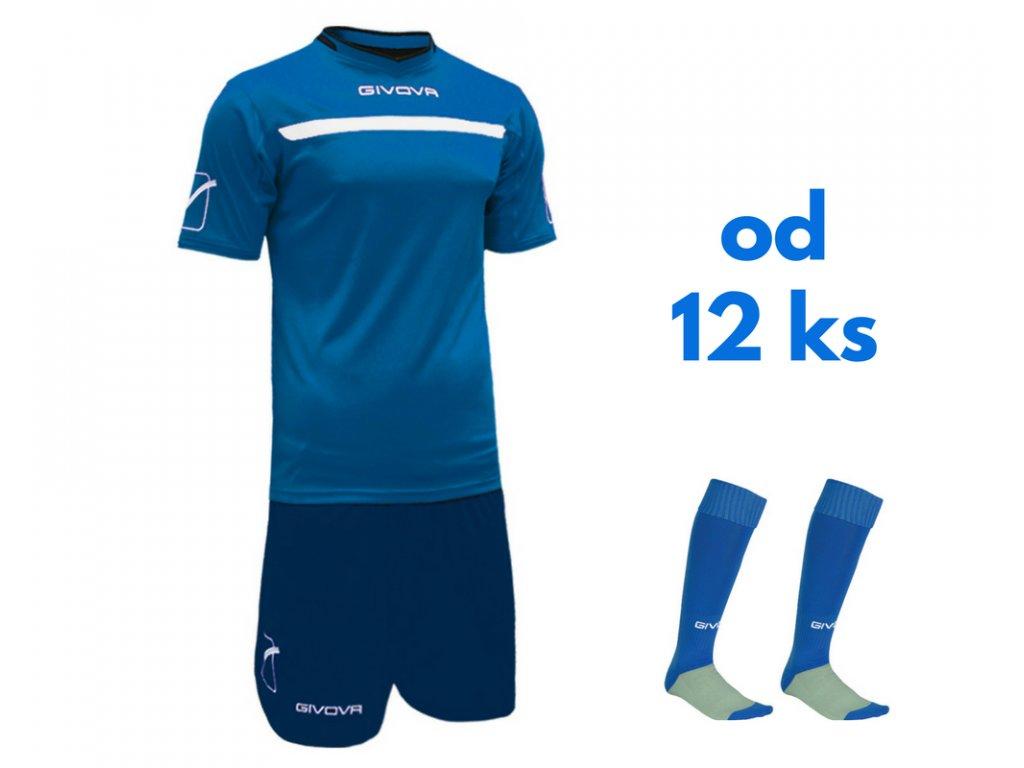 Futbalová sada Givova One pre celé mužstvo, od 12 ks, kráľovsky modrá / tmavo modrá
