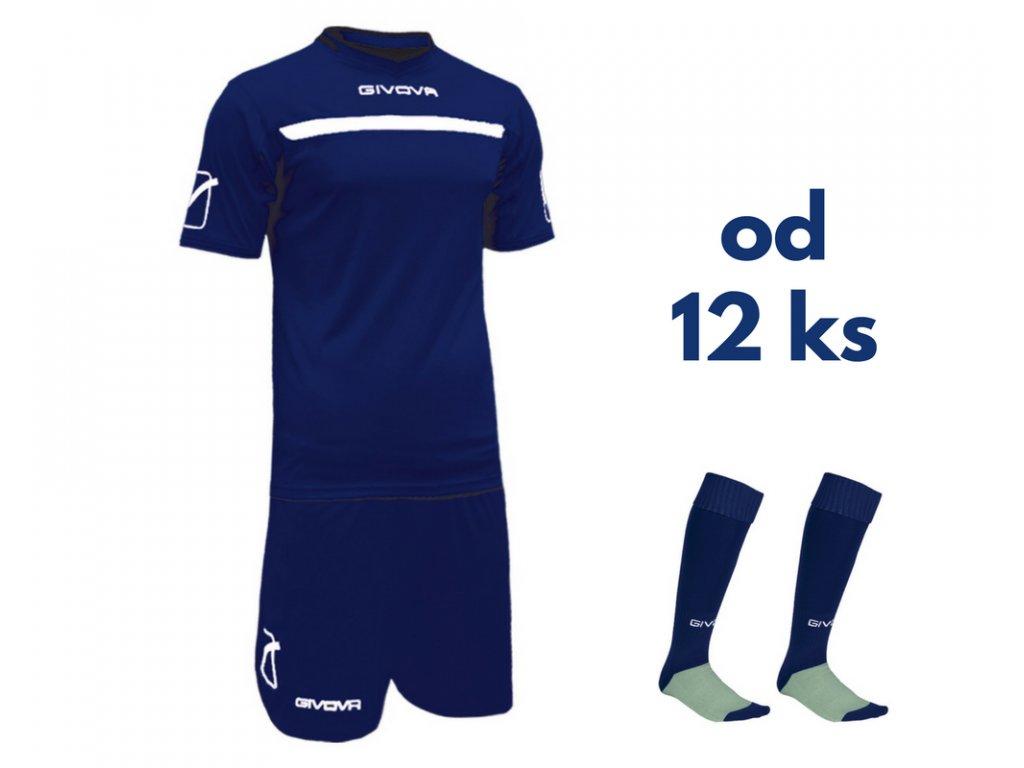 Futbalová sada Givova One pre celé mužstvo, od 12 ks, tmavo modrá / biela