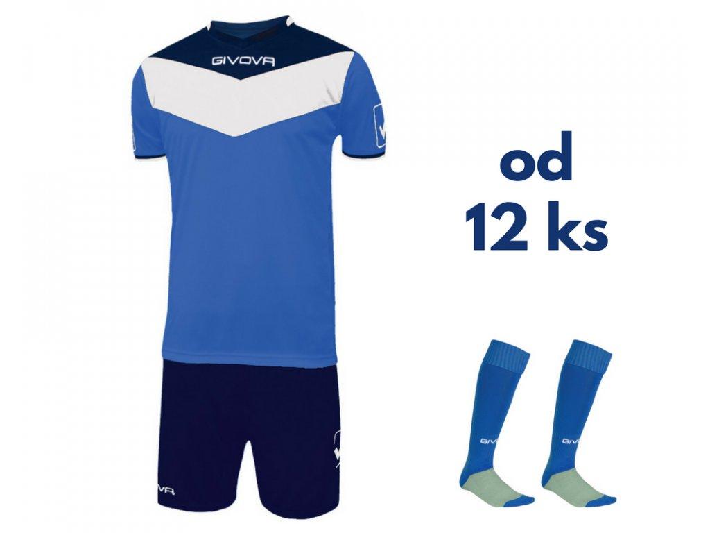 Futbalová sada Givova Campo pre celé mužstvo, od 12 ks, kráľovsky modrá / tmavo modrá