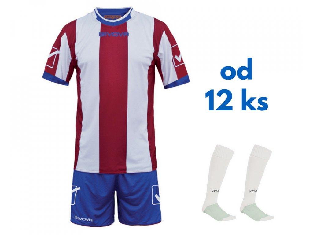 Futbalová sada Givova Catalano pre celé mužstvo, od 12 ks, červená / biela