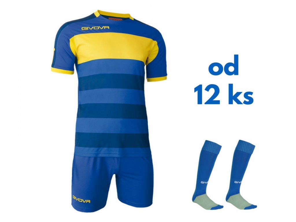 Futbalová sada Givova Derby pre celé mužstvo, od 12 ks, kráľovsky modrá / žltá