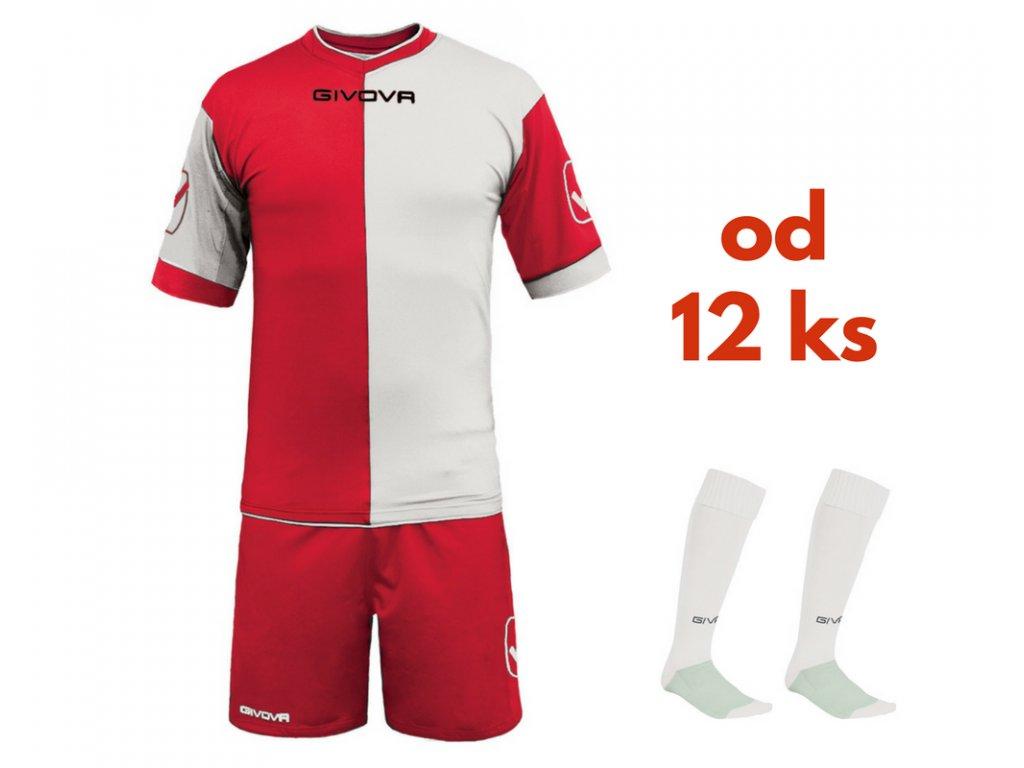 Futbalová sada Givova Combo pre celé mužstvo, od 12 ks, červená / biela