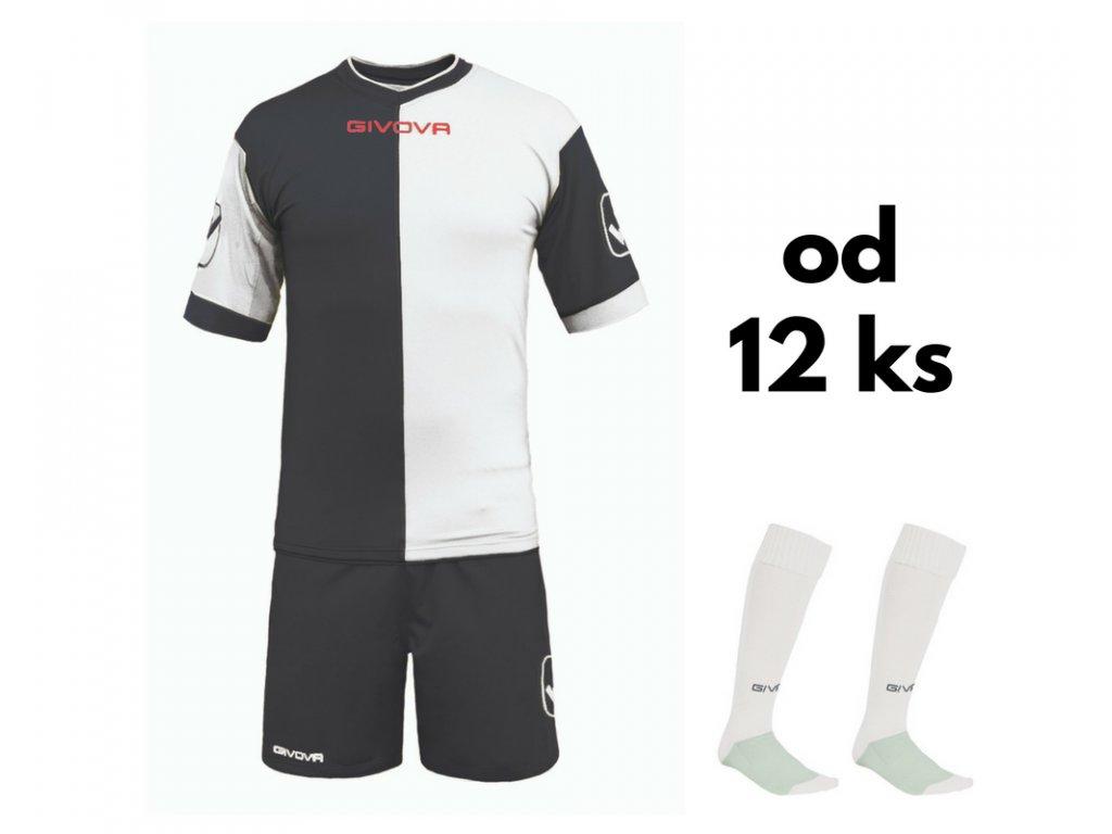 Futbalová sada Givova Combo pre celé mužstvo, od 12 ks, čierna / biela