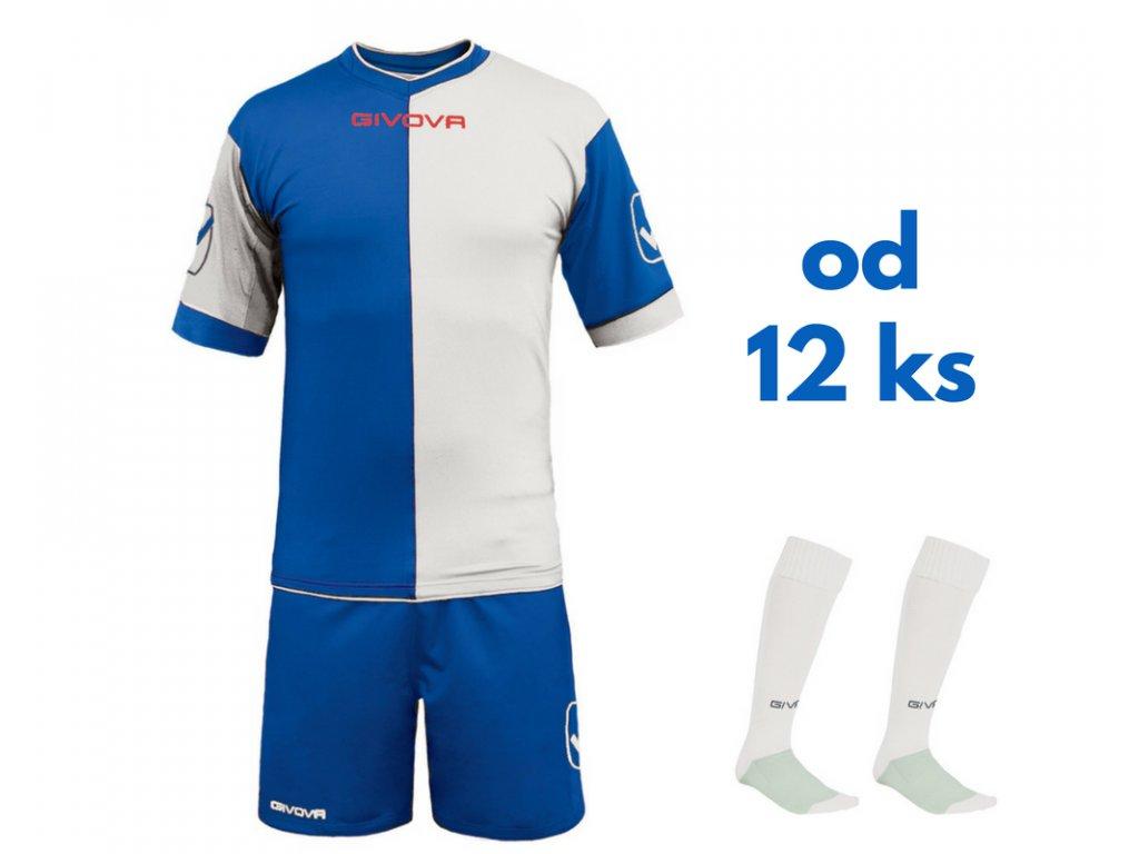 Futbalová sada Givova Combo pre celé mužstvo, od 12 ks, kráľovsky modrá / biela